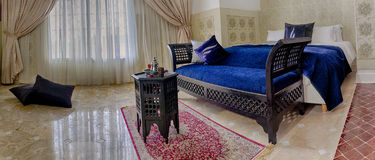 Moroccan room suite. Beautiful moroccan room suite in arabic style Stock Photos