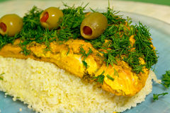 Moroccan Salmon stock photography
