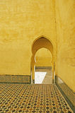 Moroccan Sanctuary. A mausoleum in Meknes, Morocco. This religious site offers a sanctuary of peace and tranquility to allow visitors to reflect Royalty Free Stock Images