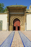 Moroccan Sanctuary. A Muslim Mausoleum in the Moroccan city of Meknes, Africa Royalty Free Stock Images