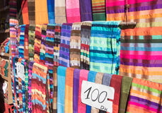 moroccan scarves Royaltyfria Bilder
