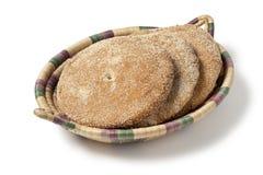 Moroccan semolina bread Stock Photos