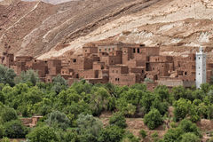 Moroccan settlement on the route to Ait Ben Haddou Royalty Free Stock Photography