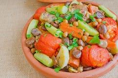 Moroccan Seven vegetables tajine Stock Photography