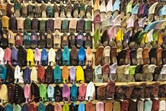 Moroccan shoes Royalty Free Stock Photos