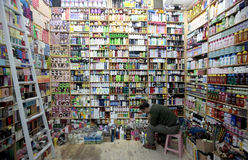 Moroccan shopkeeper stock images