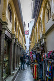 Moroccan shopping street - Granada Stock Photography