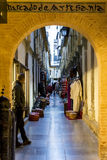 Moroccan shopping street - Granada Royalty Free Stock Images