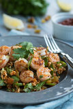 Moroccan Shrimp with Rice Royalty Free Stock Photos