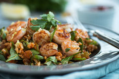 Moroccan Shrimp with Rice Royalty Free Stock Images