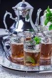 Moroccan silver tea service Royalty Free Stock Photos