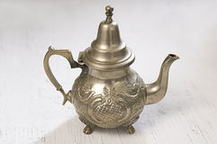 Moroccan Silver Teapot Royalty Free Stock Image