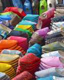 Moroccan Slippers. Moroccan colorful slippers for sale in the medina royalty free stock photos
