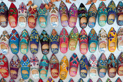 Moroccan slippers souvenir Stock Images