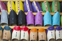 Moroccan slippers Royalty Free Stock Photos