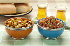 Moroccan snacks Stock Photography
