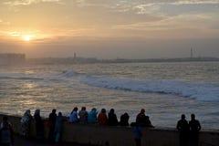 moroccan solnedgång Arkivbild