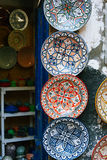 Moroccan souk crafts souvenirs in medina, Essaouira, Morocco Stock Images