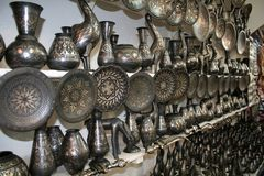 Moroccan souvenir shop Royalty Free Stock Images
