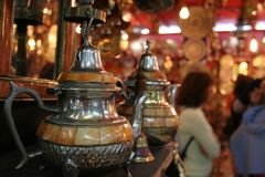 Moroccan souvenir shop. Inside the moroccan souvenir shop in Fes city (Morocco Stock Images