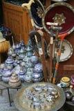 Moroccan souvenir shop. Inside the moroccan souvenir shop in Meknes city (Morocco royalty free stock photos