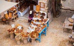 Moroccan souvenirs in Essaouira Royalty Free Stock Photos