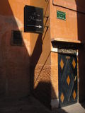 Moroccan Spa. Humble entrance to a Marrakech spa Stock Images