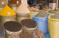 Moroccan Spice Shop Royalty Free Stock Images