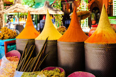 Moroccan spice stall Stock Images
