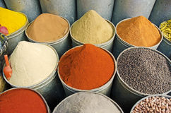 Moroccan Spice. Spice towers in a Moroccan market Royalty Free Stock Photography