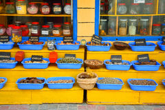 Moroccan spices and medicines Royalty Free Stock Image