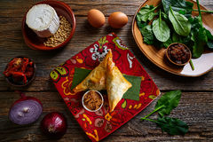 Moroccan Spinach and cheese Briouat Stock Photos