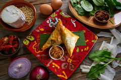 Moroccan Spinach and cheese Briouat Royalty Free Stock Photos