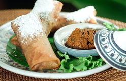 Moroccan spring rolls style isolated  Stock Photo