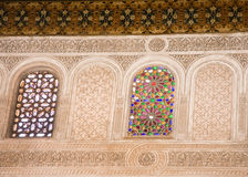 Moroccan stained glass window Stock Photos