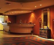 Moroccan stile hall. Reception in Moroccan stile hotel at Dead sea region Stock Photo