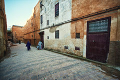 Moroccan street, Fes Royalty Free Stock Images