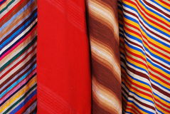 Moroccan Stripey Fabrics Royalty Free Stock Photo