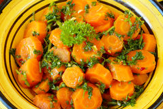 Moroccan style carrots Stock Photo
