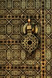 Moroccan style copper door Stock Images