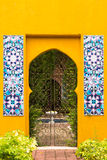 The Moroccan style doorway to the garden Royalty Free Stock Photography