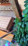 Moroccan style patio decor Stock Photos
