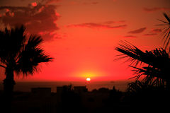 Moroccan sunset. Warm moroccan sunset North Africa Royalty Free Stock Photo