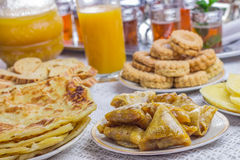Moroccan sweets with tea Royalty Free Stock Image