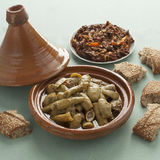 Moroccan tagine with beef and bottle gourds Royalty Free Stock Photos