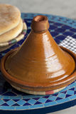 Moroccan tagine and bread Royalty Free Stock Photography