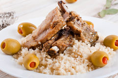 Moroccan tagine with lamb ribs Stock Images