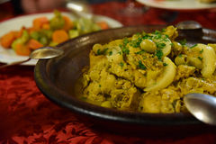Moroccan tagine meal Stock Images
