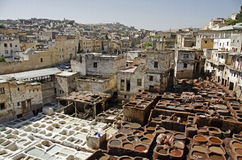 Moroccan Tanneries Royalty Free Stock Photography