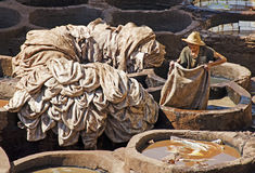 Moroccan Tanneries Royalty Free Stock Images